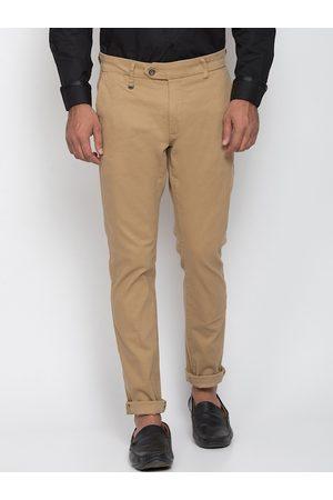 Antony Morato Men Beige Slim Fit Solid Regular Trousers