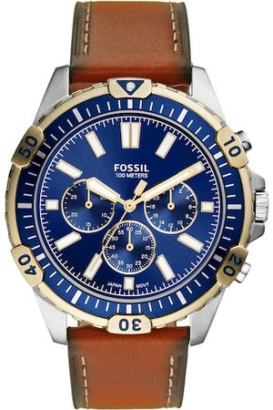 Fossil Men Blue Analogue Leather Watch FS5625