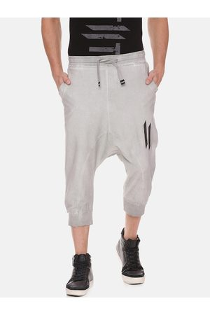 ATTIITUDE Men Grey Solid Pure Cotton Joggers
