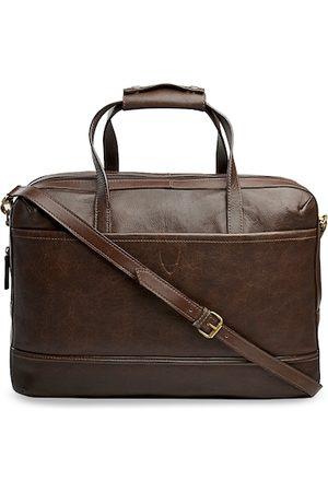 Hidesign Men Laptop Bags - Men Brown Solid Laptop Bag