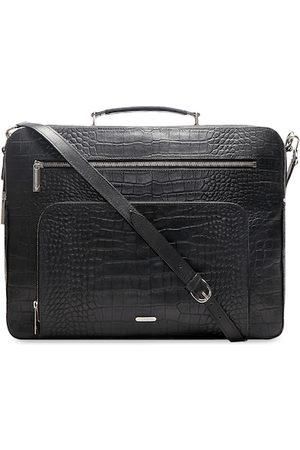 Hidesign Men Black Textured Leather Laptop Bag