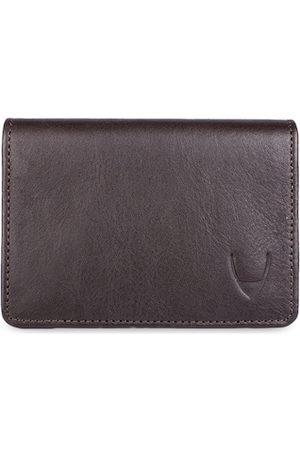 Hidesign Men Brown Solid Leather Card Holder
