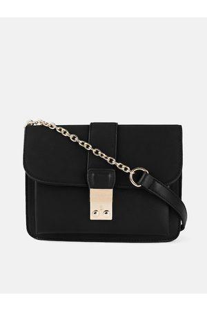 Mast & Harbour Bags - Black Solid Sling Bag