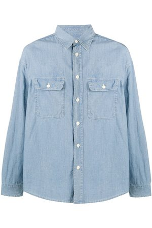 VISVIM Elbow patch chambray shirt