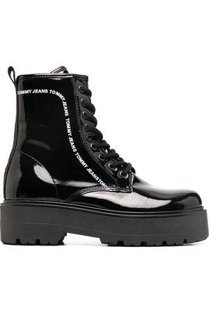 Tommy Hilfiger Platform logo print boots