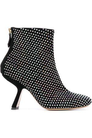 Nicholas Kirkwood Alba 90mm studded boots