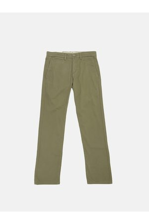 Levi's Men Olive Green 511 Slim Fit Solid Chinos
