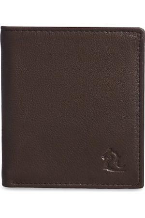 KARA Men Coffee Brown Leather Two Fold Wallet