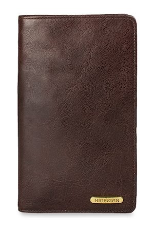 Hidesign Men Brown Solid Leather RFID Protected Two Fold Wallet