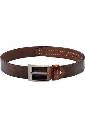 Teakwood Leathers Men Brown Textured Belt