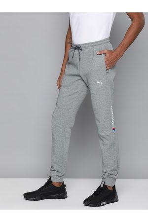 PUMA Men Grey Melange Solid Slim Fit BMW MMS Sweat Pants CC Track Pants