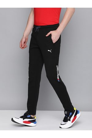 PUMA Men Black Solid Slim Fit BMW MMS Sweat Pants OC Track Pants