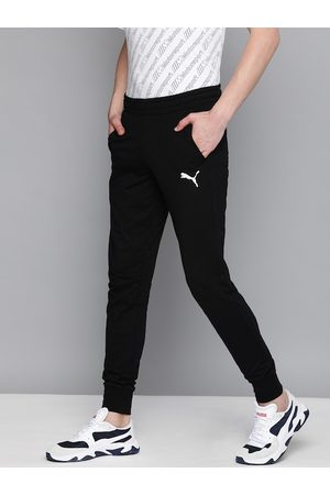 PUMA Men Black Solid Slim Fit Joggers