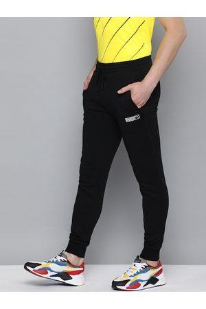 PUMA Men Black Slim Fit Classics LN.2 Solid Joggers