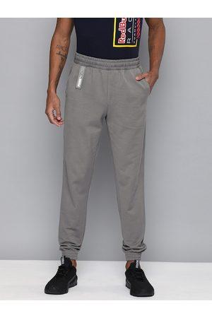 PUMA Men Grey Solid NU-TILITY Knit joggers