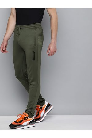 PUMA Men Green Solid Elevated Slim Fit Track Pants