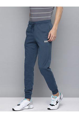 PUMA Men Blue Slim Fit Classics LN.2 Solid Joggers