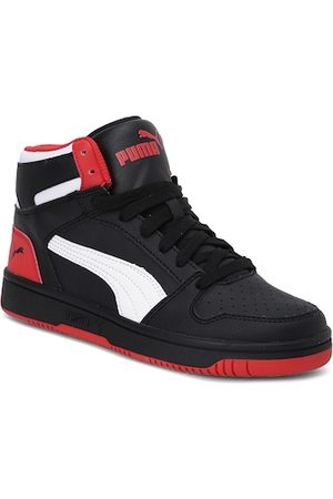 PUMA Black & Red Rebound Lay-Up SL Youth Shoes