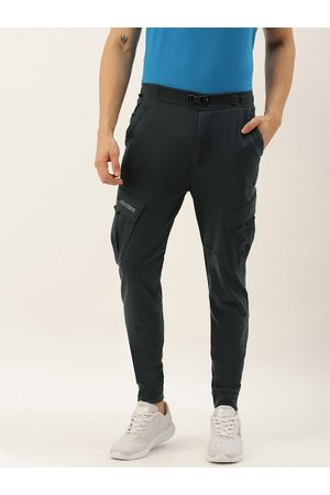 Proline Men Charcoal Grey Slim Fit Solid Joggers with Side Bellow Pockets