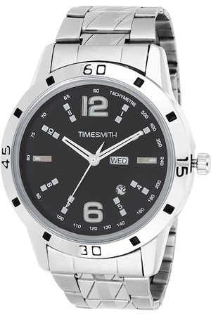 TIMESMITH Men Silver-Toned & Silver-Toned Analogue Watch TSC-023febs