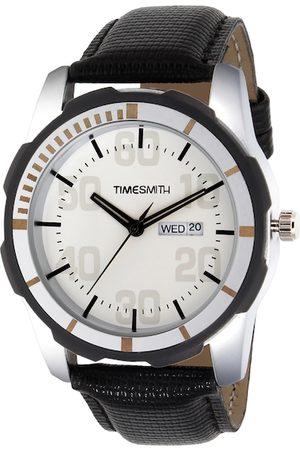 TIMESMITH Men White Leather Analogue Watch TSC-006
