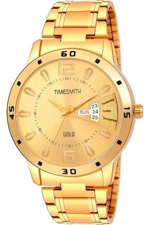TIMESMITH Men Gold-Toned Analogue Watch TSC-107