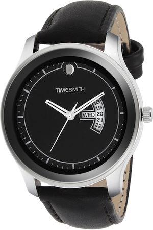 TIMESMITH Men Black Leather Analogue Watch TSC-011