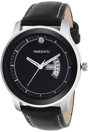 TIMESMITH Men Black Leather Analogue Watch TSC-004