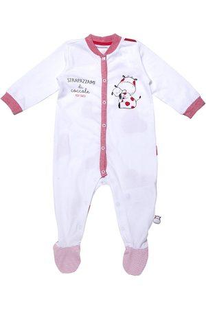 chicco Kids White & Magenta Printed Bodysuit