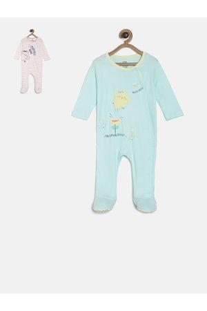 MINI KLUB Infant Girls Pack of 2 Printed Sleepsuits