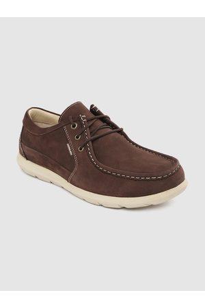 Woodland Men Coffee Brown Solid Nubuck Sneakers