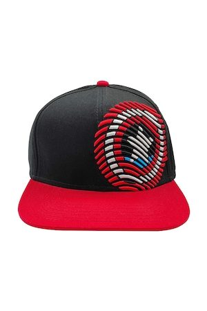Free Authority Men Black & Red Captain America Embroidered Baseball Cap
