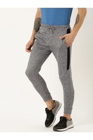 Proline Men Charcoal Grey Solid Slim Fit Joggers With Side Panels