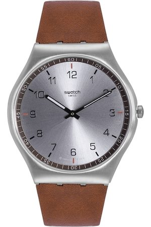 Swatch Unisex Silver-Toned Swiss Made Analogue Watch SS07S108