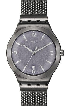 Swatch Men Charcoal Grey Swiss Made Analogue Watch