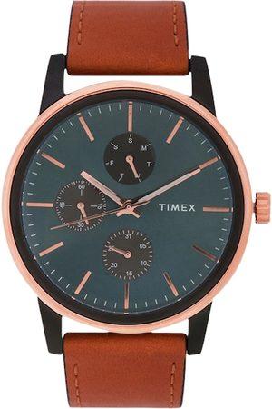 Timex Men Blue & Brown Analogue Watch TWEG18904