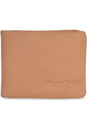 CHRISTOPOLO Men Tan Brown Solid Leather Two Fold Wallet