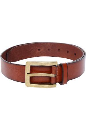 Allen Solly Men Tan Brown Solid Leather Belt