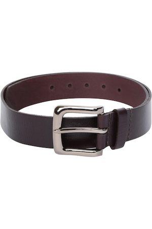 Allen Solly Men Brown Solid Leather Belt