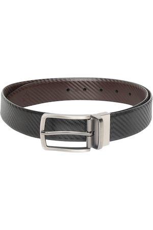 Allen Solly Men Black & Brown Textured Reversible Leather Belt