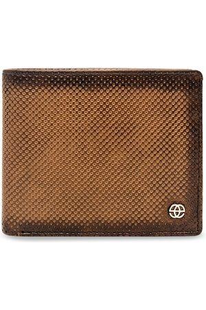 Eske Men Tan Brown Paris Arwin Leather Textured Two Fold Wallet