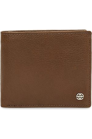 Eske Men Brown Solid Leather Two Fold Wallet