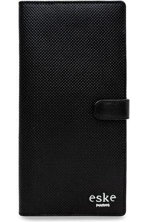 Eske Men Black Paris Alex Leather Solid Passport Holder