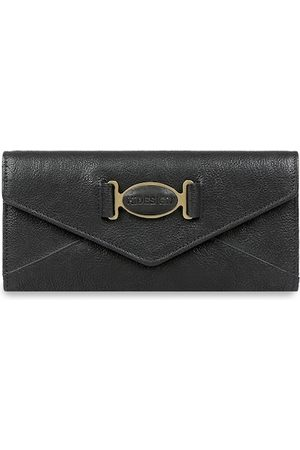 Hidesign Women Black Textured Three Fold Leather Wallet
