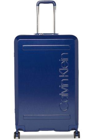 Calvin Klein Unisex Blue Soho 360-Degree Rotation Hard-Sided Large Trolley Suitcase