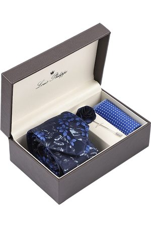 Louis Philippe Men Navy Blue Accessory Gift Set