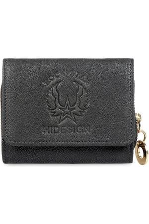 Hidesign Women Black Textured Leather Three Fold Wallet