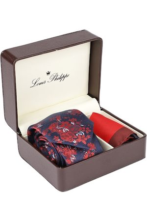 Louis Philippe Men Red & Navy Blue Accessory Gift Set