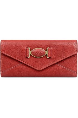 Hidesign Women Red Textured Leather Envelope Wallet