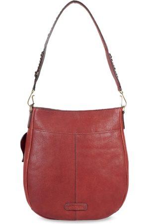 Hidesign Women Red Solid Leather Shoulder Bag